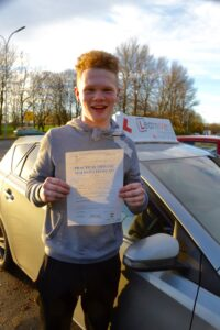 Ibrox driving test pass for Thomas